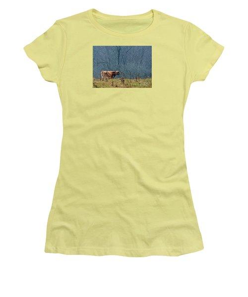 Grazing In Winter Women's T-Shirt (Junior Cut) by Christian Mattison