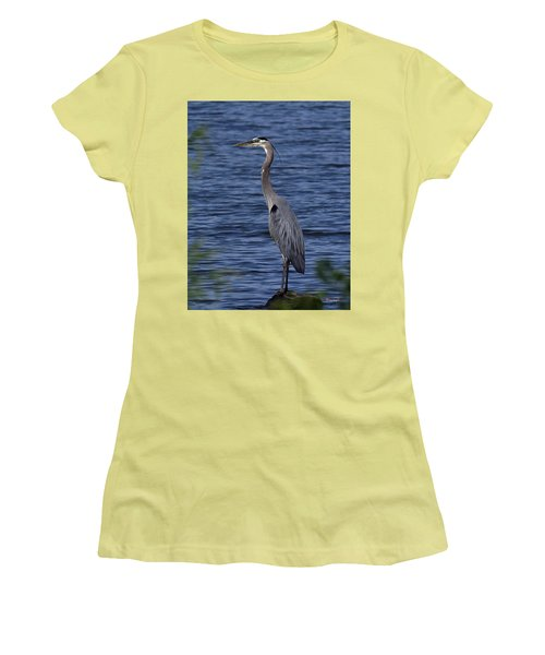 Great Blue Heron Dmsb0001 Women's T-Shirt (Athletic Fit)