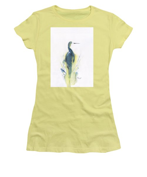 Blue Heron Turning Women's T-Shirt (Athletic Fit)