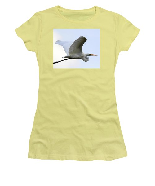 Great Egret Port Jefferson New York Women's T-Shirt (Athletic Fit)