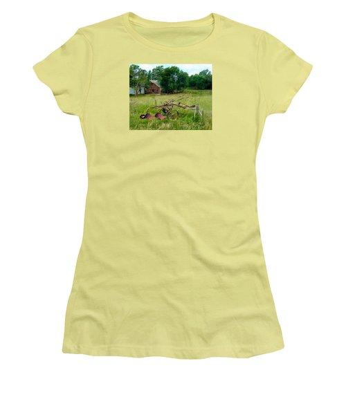 Great Grandpa's Plow Women's T-Shirt (Junior Cut) by Ric Darrell