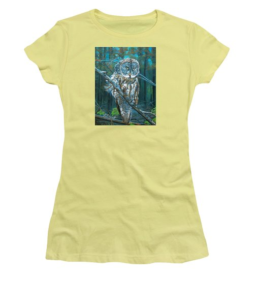 Great Grey Owl Women's T-Shirt (Athletic Fit)