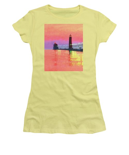 Great Lakes Light Women's T-Shirt (Athletic Fit)