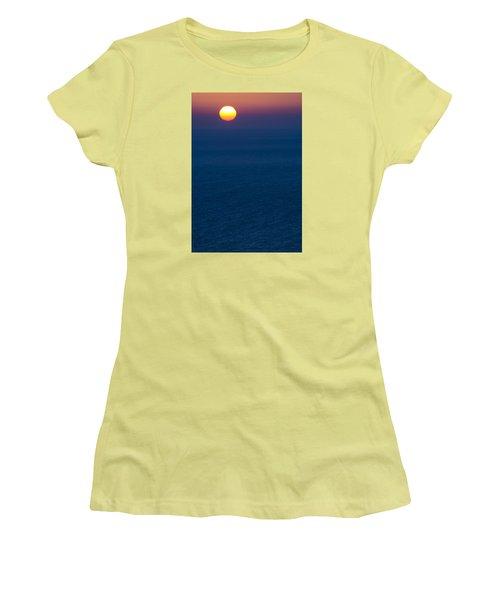 Greek Sunset Women's T-Shirt (Junior Cut) by Rainer Kersten