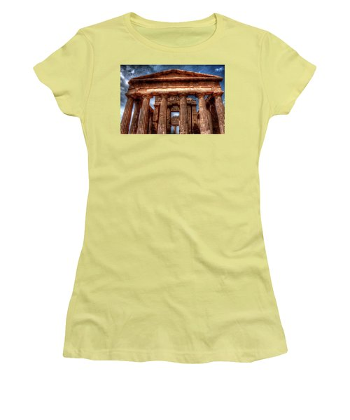 Temple Of Concord  Women's T-Shirt (Junior Cut) by Patrick Boening