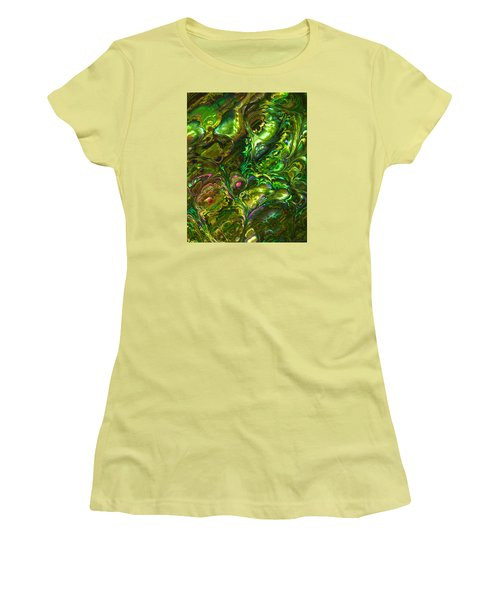 Green Abalone Abstract Women's T-Shirt (Athletic Fit)