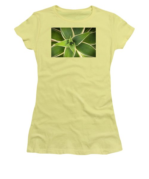 Women's T-Shirt (Junior Cut) featuring the photograph Green Agave by Catherine Lau