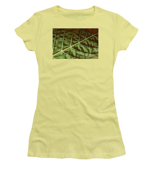 Green And Red Leaf Silky Dunes 1 Women's T-Shirt (Athletic Fit)
