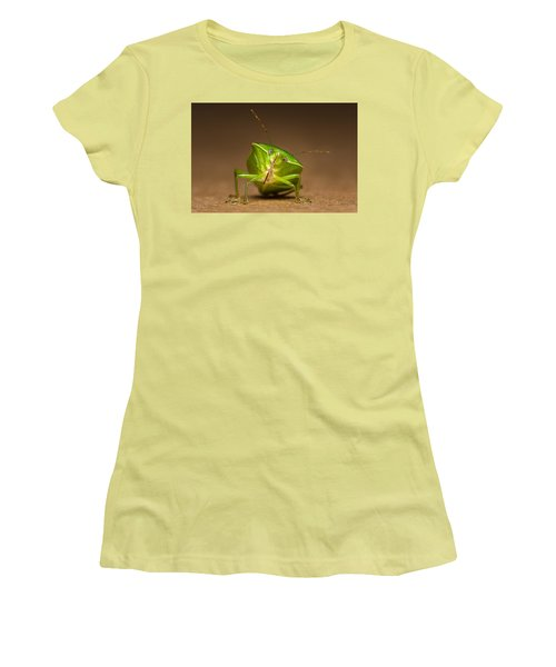 Green Bug Women's T-Shirt (Athletic Fit)