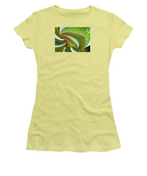 Women's T-Shirt (Junior Cut) featuring the digital art Green Diamonds by Melissa Messick