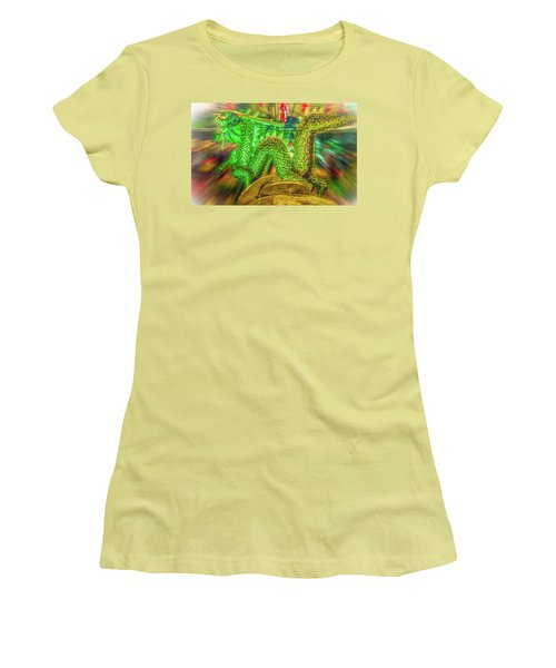 Green Dragon Women's T-Shirt (Junior Cut) by Mark Dunton
