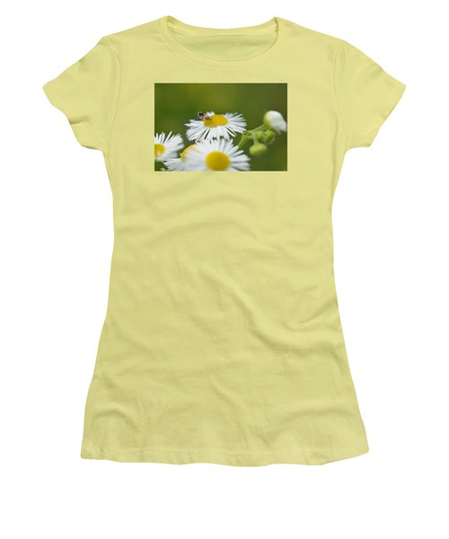 Green Eyes Women's T-Shirt (Junior Cut) by Janet Rockburn