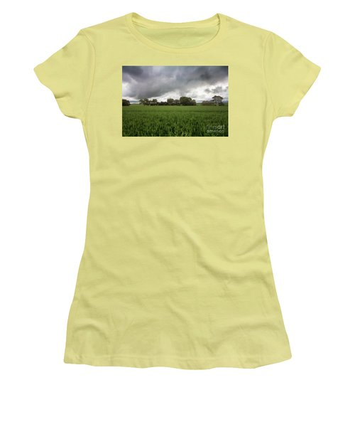Green Fields 5 Women's T-Shirt (Junior Cut) by Douglas Barnard