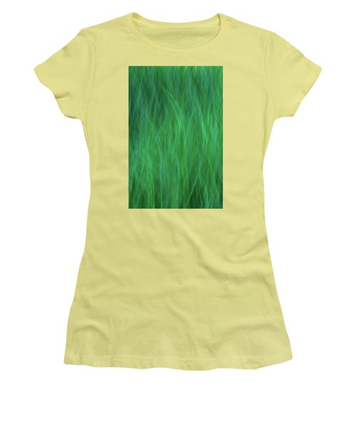 Green Fire 2 Women's T-Shirt (Athletic Fit)