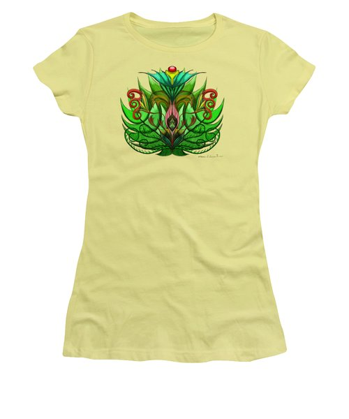 Green Flower Women's T-Shirt (Athletic Fit)