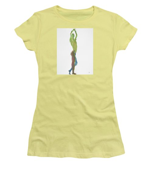 Green Gesture 1 Profile Women's T-Shirt (Junior Cut) by Shungaboy X