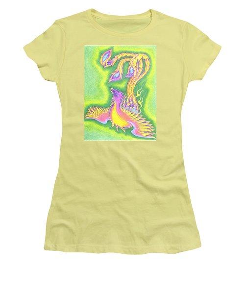 Green Gold Phoenix Women's T-Shirt (Athletic Fit)