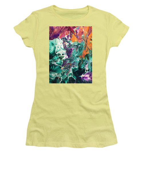 Green Lagoon Women's T-Shirt (Athletic Fit)