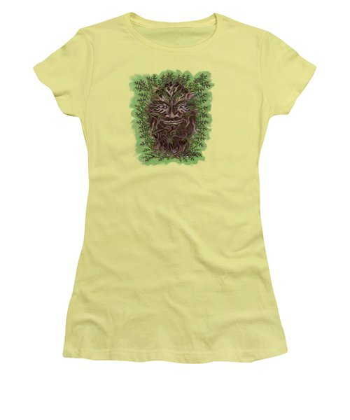 Green Man Of The Forest Women's T-Shirt (Athletic Fit)