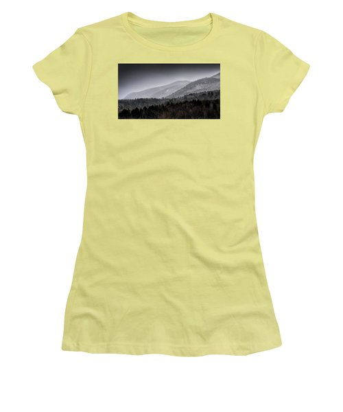 Women's T-Shirt (Junior Cut) featuring the photograph Green Mountains - Vermont by Brendan Reals
