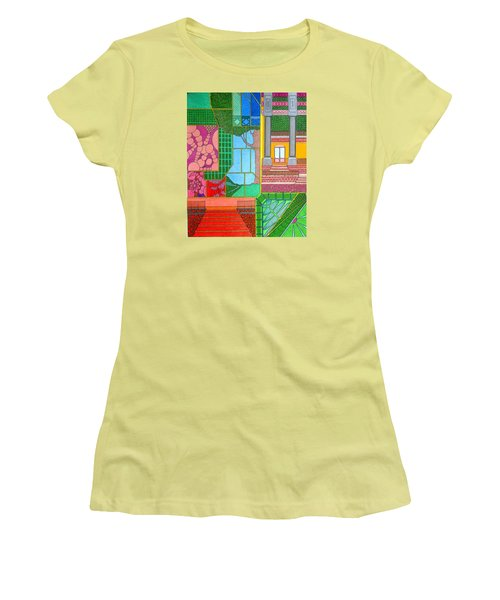Green Roof Women's T-Shirt (Athletic Fit)