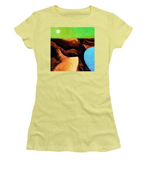 Green Skies Women's T-Shirt (Junior Cut) by Igor Postash