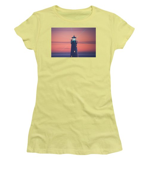 Women's T-Shirt (Athletic Fit) featuring the photograph Green Star by Lora Lee Chapman