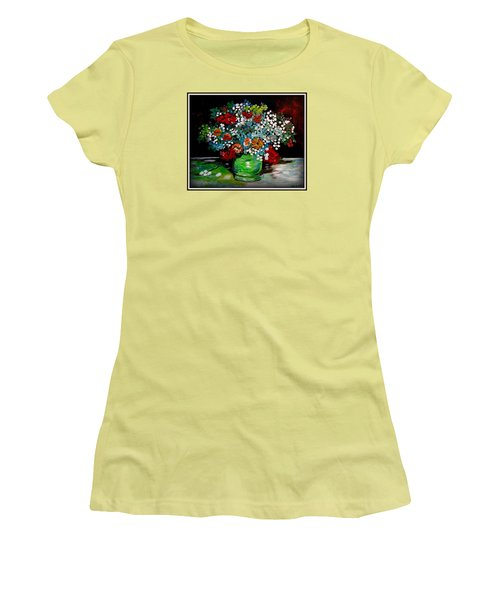 Green Vase With Flowers Women's T-Shirt (Athletic Fit)