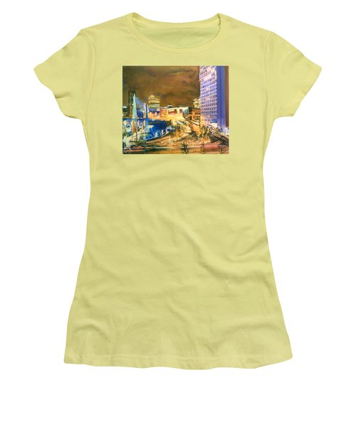 Greengate, Salford, Manchester At Night Women's T-Shirt (Athletic Fit)