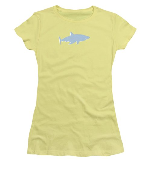 Grey And Yellow Shark Women's T-Shirt (Athletic Fit)
