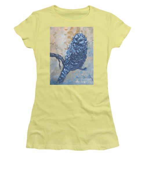 Grey Owl1 Women's T-Shirt (Junior Cut) by Laurianna Taylor
