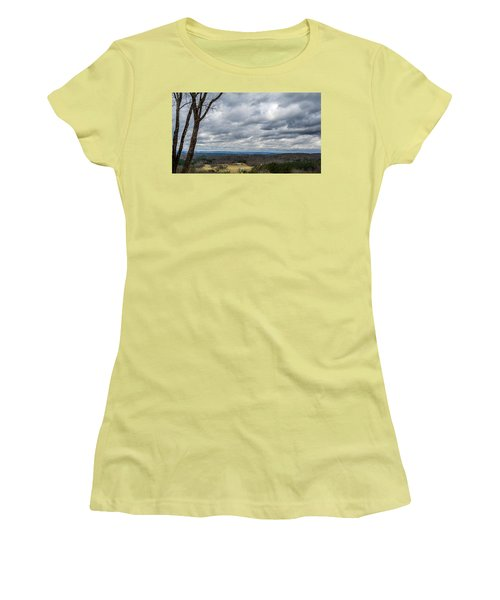 Grey Skies Women's T-Shirt (Athletic Fit)