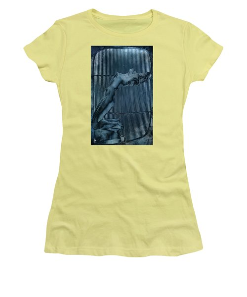 Women's T-Shirt (Junior Cut) featuring the digital art Grill Of The Ride by Greg Sharpe