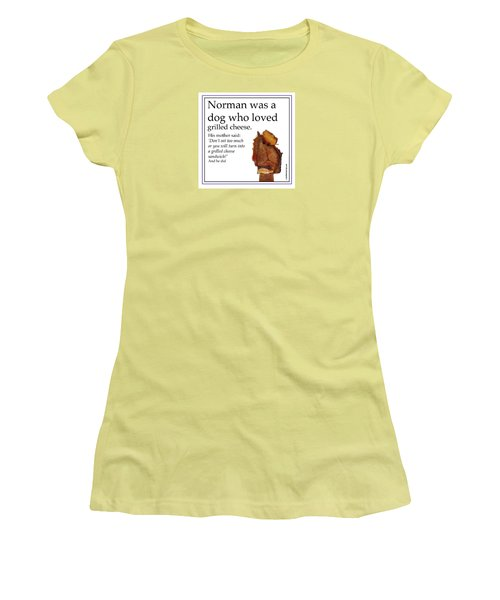 Grilled Cheese Dog Women's T-Shirt (Athletic Fit)