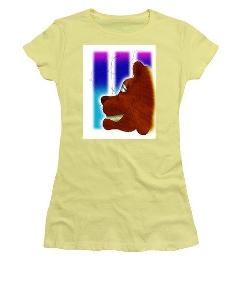 Grin And Bear It Women's T-Shirt (Junior Cut) by Ismael Cavazos