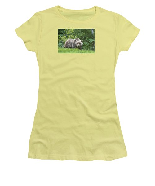 Women's T-Shirt (Junior Cut) featuring the photograph Grizzly Bear by Gary Lengyel
