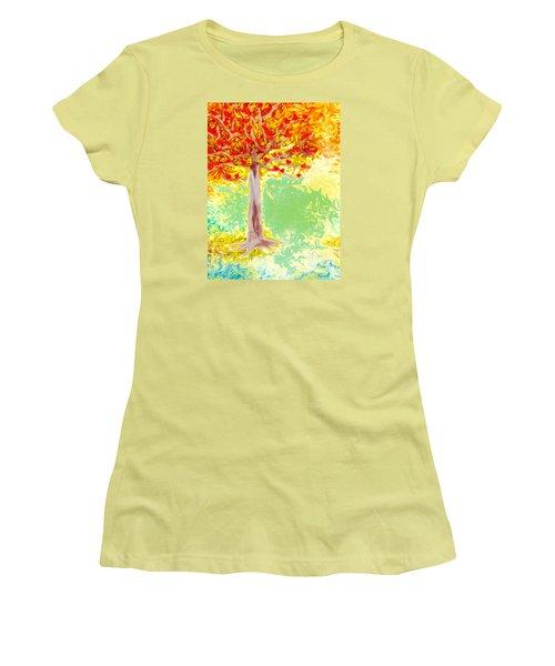 Growing Love Women's T-Shirt (Junior Cut) by Claudia Ellis