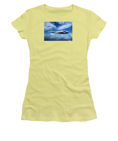 Flight Of The Intruder, Grumman A-6 Women's T-Shirt (Junior Cut) by Wernher Krutein