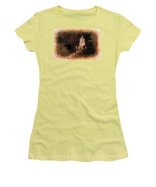 Grungy Todos Santos Women's T-Shirt (Junior Cut) by Al Bourassa