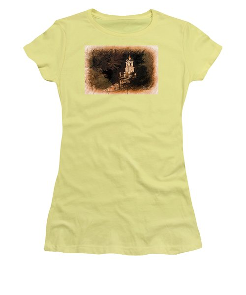 Grungy Todos Santos Women's T-Shirt (Athletic Fit)