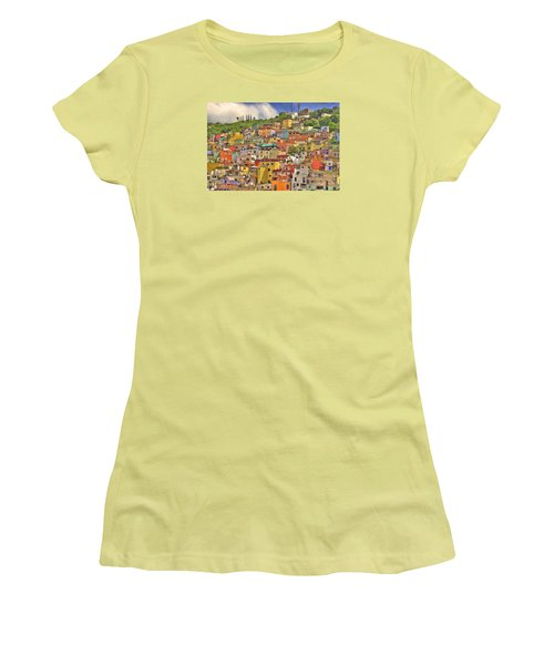 Guanajuato Hillside Women's T-Shirt (Junior Cut) by Juli Scalzi