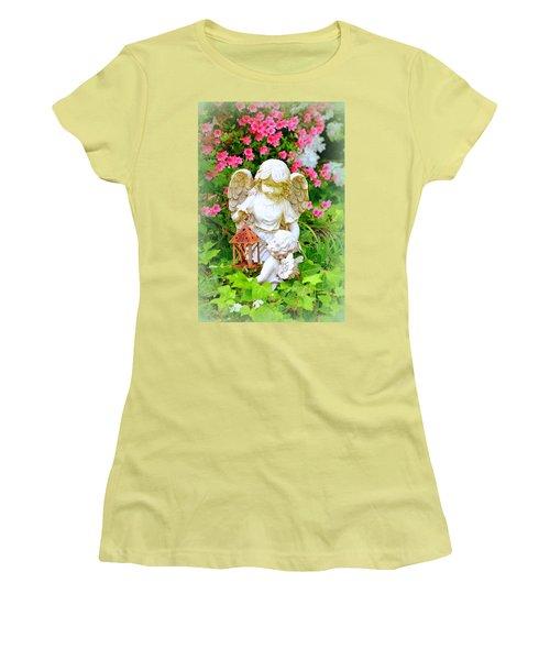 Guardian Angel Women's T-Shirt (Athletic Fit)