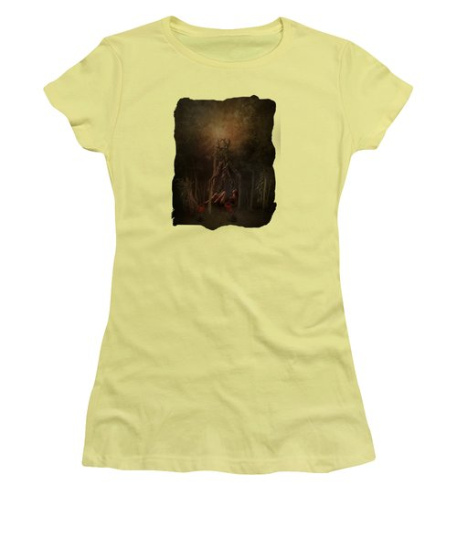 Guardians Of The Forest Women's T-Shirt (Junior Cut) by Terry Fleckney