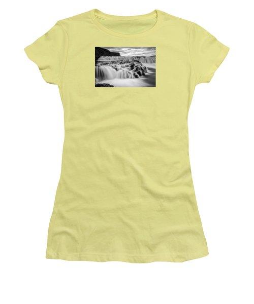 Gullfoss Women's T-Shirt (Junior Cut) by Brad Grove