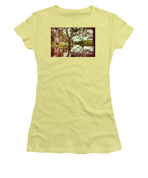 Gum Creek V2 Women's T-Shirt (Junior Cut) by Douglas Barnard