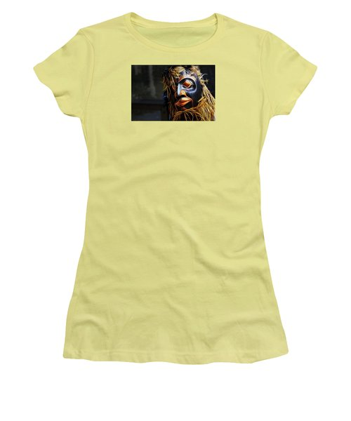 Haida Head Women's T-Shirt (Junior Cut) by Cameron Wood