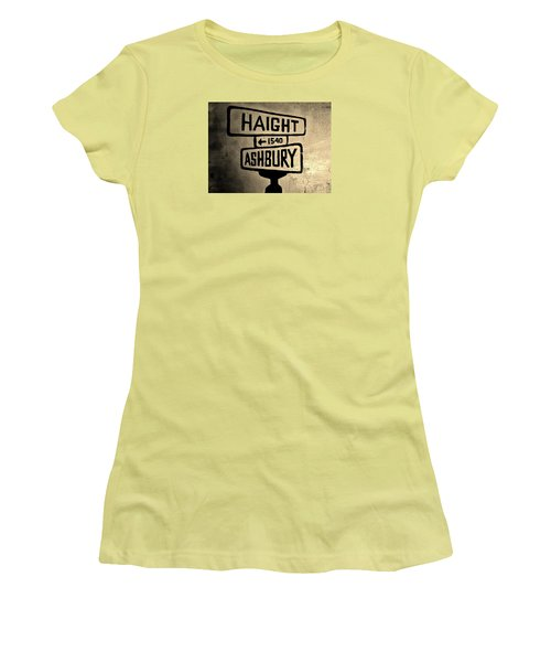 Women's T-Shirt (Junior Cut) featuring the photograph Haight Ashbury by Dany Lison