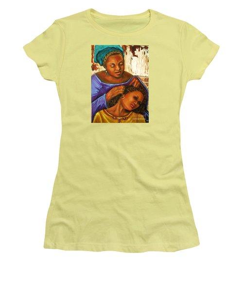 Hair Braiding Women's T-Shirt (Athletic Fit)