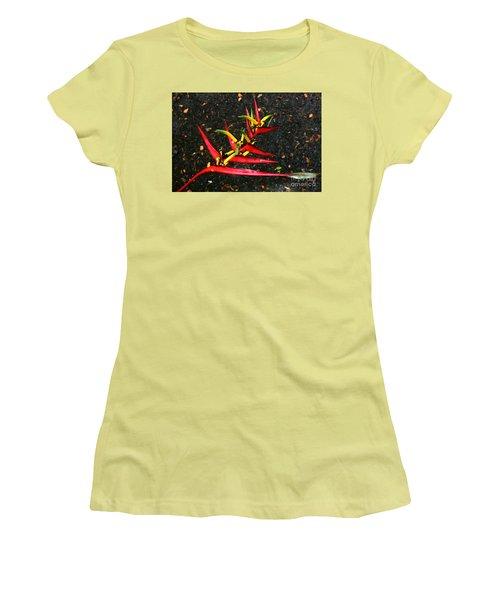 Haleconia Red Gold And Green Women's T-Shirt (Athletic Fit)