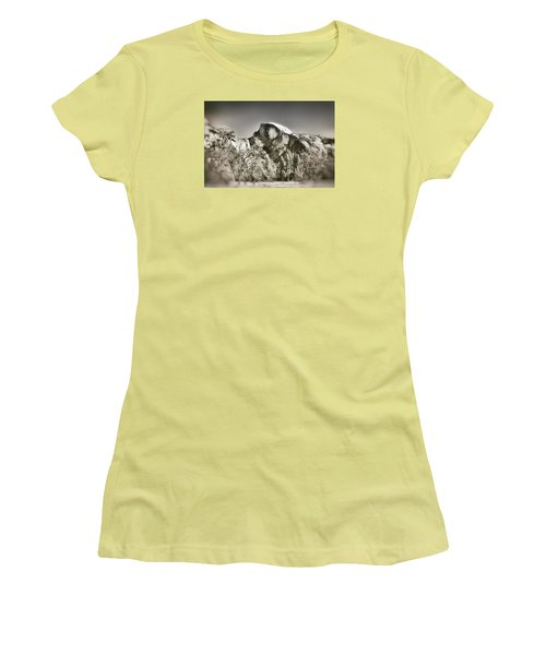 Women's T-Shirt (Junior Cut) featuring the photograph Half Dome Yosemite by James Bethanis